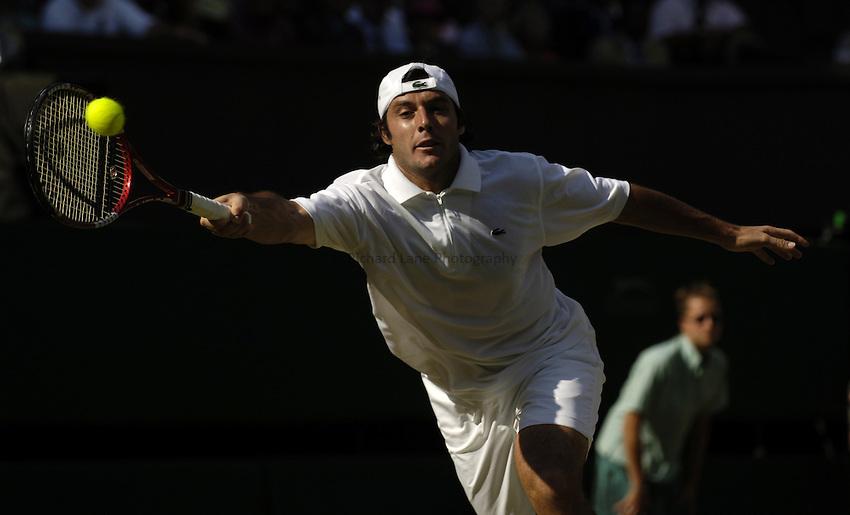 Photo. Jed Wee..Wimbledon Championships. 29/06/2005..Sebastien Grosjean.