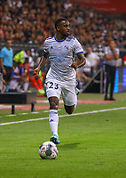 Lionel Carole (Racing Club de Strasbourg Alsace) - 29.08.2019: Eintracht Frankfurt vs. Racing Straßburg, UEFA Europa League, Qualifikation, Commerzbank Arena<br /> DISCLAIMER: DFL regulations prohibit any use of photographs as image sequences and/or quasi-video.