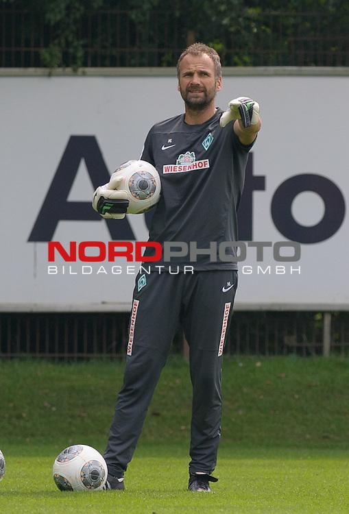 30.08.2013, Trainingsgelaende, Bremen, GER, 1.FBL, Training Werder Bremen, im Bild Marco Langner (Torwart-Trainer Werder Bremen)<br /> <br /> Foto &copy; nph / Frisch