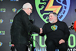 """(L-R) British actor Ian McDiarmid, Apple co-founder Steve Wozniak attend a press conference to unveil the """"Tokyo Comic Con 2016"""" in Tokyo, Japan, on December 4, 2015. The inaugural Tokyo Comic Con will take place at the Mukahari Messe Convention Center from December 3-4, 2016. (Photo by AFLO)"""
