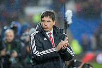 Wales manager Chris Coleman ahead of the International Friendly match between Wales and Northern Ireland at Cardiff City Stadium, Cardiff, Wales on 24 March 2016. Photo by Mark  Hawkins / PRiME Media Images.