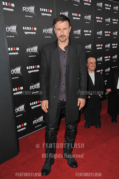 "David Arquette at the world premiere of his new movie ""Scream 4"" at Grauman's Chinese Theatre, Hollywood,.April 11, 2011  Los Angeles, CA.Picture: Paul Smith / Featureflash"