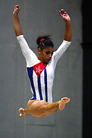 BARRANQUILLA - COLOMBIA, 22-07-2018: Marcia Videaux, gimnasta de Cuba, durante su participación en gimnasia mujeres modalidad Viga de Equilibrio, como parte de los Juegos Centroamericanos y del Caribe Barranquilla 2018. /  Marcia Videaux, gymnast of Cuba, during her participation in gymnastics, modality Viga de Equilibrio, as a part of the Central American and Caribbean Sports Games Barranquilla 2018. Photo: VizzorImage / Alfonso Cervantes / Cont.