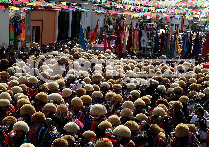 Parachicos, danzantes en las festividades de San Sebastian Martir, en el pueblo magico de Chiapa de Corzo. CHIAPAS, MEXICO. (NoeGarcia/NortePhoto)