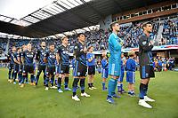 San Jose, CA - Saturday June 09, 2018: National anthem during a Major League Soccer (MLS) match between the San Jose Earthquakes and Los Angeles Football Club at Avaya Stadium.