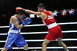 Glasgow 2014 Commonwealth Games<br /> Joseph Cordina, Wales (Red) v Chad Milnes, New Zealand (Blue)<br /> Men's Light (60kg)<br /> SECC<br /> 29.07.14<br /> &copy;Steve Pope-SPORTINGWALES