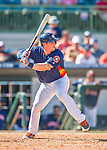 15 March 2016: Houston Astros catcher Tyler Heineman in action during a Spring Training pre-season game against the Washington Nationals at Osceola County Stadium in Kissimmee, Florida. The Astros fell to the Nationals 6-4 in Grapefruit League play. Mandatory Credit: Ed Wolfstein Photo *** RAW (NEF) Image File Available ***