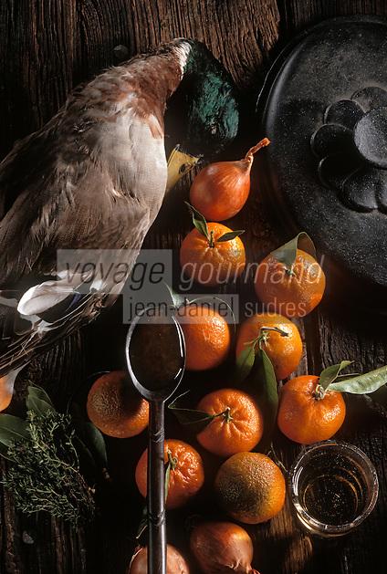 Gastronomie générale / Cuisine générale : Ingrédients  du Colvert roti en aigre-doux aux mandarines