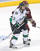 Travis Zajac, Peter Harrold - The Boston College Eagles defeated the University of North Dakota Fighting Sioux 6-5 on Thursday, April 6, 2006, in the 2006 Frozen Four afternoon Semi-Final at the Bradley Center in Milwaukee, Wisconsin.