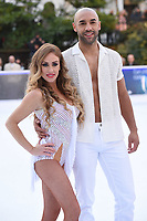 "Alex Beresford and Brianne Delcourt <br /> at the ""Dancing on Ice"" launch photocall, natural History Museum, London<br /> <br /> <br /> ©Ash Knotek  D3365  19/12/2017"