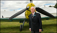 BNPS.co.uk (01202 558833)<br /> Pic: TomWren/BNPS<br /> <br /> A German fighter ace has been reunited with a plane he would have flown during the war.<br /> <br /> Hugo Broch was a Messerschmitt 109 fighter pilot who fought on the Eastern Front and shot down a staggering 81 enemy aircraft during 324 combat missions.<br /> <br /> He won the German Cross in Gold and the Iron Cross 1st and 2nd Class.<br /> <br /> Mr Broch attended the Chalke Valley History Festival on Monday where he gave a talk about his experiences.