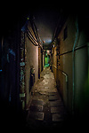 The narrow alleys of Golden Gai, home to around 200 tiny bars in Shinjuku, Tokyo, Japan