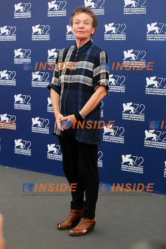 VENICE, ITALY - SEPTEMBER 09: Laurie Anderson attends 'Heart Of A Dog' Photocall during 72nd Venice Film Festival at Palazzo Del Cinema on September 9, 2015 in Venice, Italy. (Mark Cape/insidefoto)