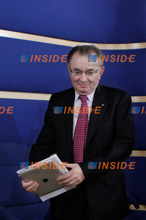 Il presidente delegato di Confindustria Giorgio Squinzi.Roma 19/04/2012 Presentazione della nuova Giunta di Confindustria.Foto Serena Cremaschi Insidefoto
