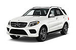 2017 Mercedes Benz GLE-Class AMG-GLE43 5 Door SUV Angular Front stock photos of front three quarter view