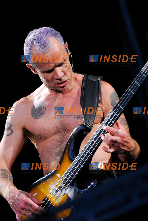 Michael Balzary.Parigi 30/06/2012 Concerto dei Red Hot Chili Peppers allo Stadio di Francia..Photo Federico Pestellini /Panramic/Insidefoto.ITALY ONLY.