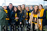 Aine O'Shea, Patrick O'Sullivan, Debra and Amy O'Shea, Zoe O Sullivan, Siobhan Courtney, Laura O'Sullivan with Rebecca O'Shea and Leah O'Shea, pictured at the Munster Senior Club final Dr. Crokes v St Joseph's Miltown-Malbay at the Gaelic Grounds Limerick, on Sunday last.