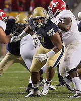 Pitt defensive lineman Aaron Donald (97). The Youngstown St. Penguins defeated the Pittsburgh Panthers 31-17 on Saturday, September 1, 2012 at Heinz Field in Pittsburgh, PA.