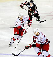 The Charlotte Checkers is the professional ice hockey franchise in Charlotte, NC. The team plays in the American Hockey League. Photo taken during the 2011 Calder Cup Playoffs (Eastern Conference Final) in May 2011.