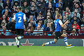 4th November 2017, Villa Park, Birmingham, England; EFL Championship football, Aston Villa versus Sheffield Wednesday; Jordan Rhodes of Sheffield Wednesday celebrates scoring the second goal for Sheffield Wednesday in the 23rd minute