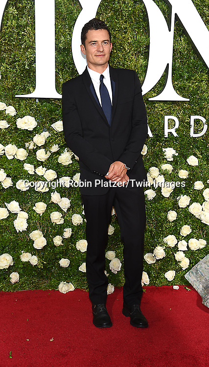 Orlando Bloom attends the 71st Annual  Tony Awards on June 11, 2017 at Radio City Music Hall in New York, New York, USA.<br /> <br /> photo by Robin Platzer/Twin Images<br />  <br /> phone number 212-935-0770