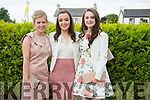 l-r  Emma Leahy, Dervila Ryan and Gemma O'Connor at Mercy Mounthawk Graduation mass 2016 in St Brendan's Church on Friday
