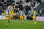 2nd February 2019, Allianz Stadium, Turin, Italy; Serie A football, Juventus versus Parma; Cristiano Ronaldo of Juventus scores the goal for 3-1 for Juventus in the 70th minute