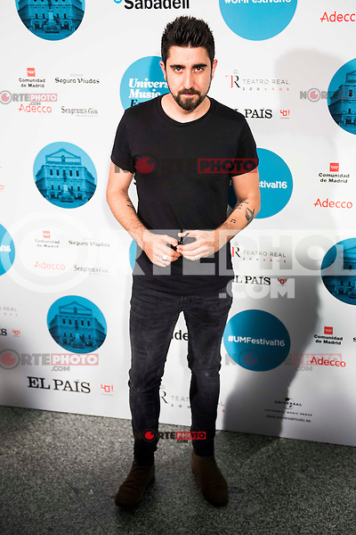 Alex Ubago attends to the photocall of the Rod Stewart concert at Teatro Real in Madrid. July 05. 2016. (ALTERPHOTOS/Borja B.Hojas)