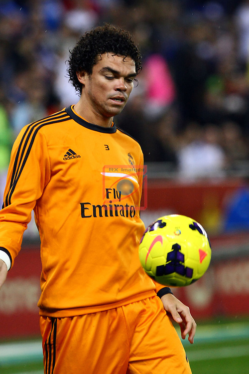 League BBVA 2013/2014 - Game: 19.<br /> RCD Espanyol vs R. Madrid: 0-1.<br /> Pepe.