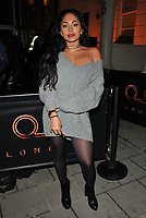 DJ Soraya at the Wolfie Ciny x I Saw It First Christmas 2017 Collection launch party, Tape London, Hanover Square, London, England, UK, on Wednesday 08 November 2017.<br /> CAP/CAN<br /> &copy;CAN/Capital Pictures