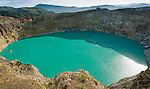 Close, wide view of Kelimutu lake.