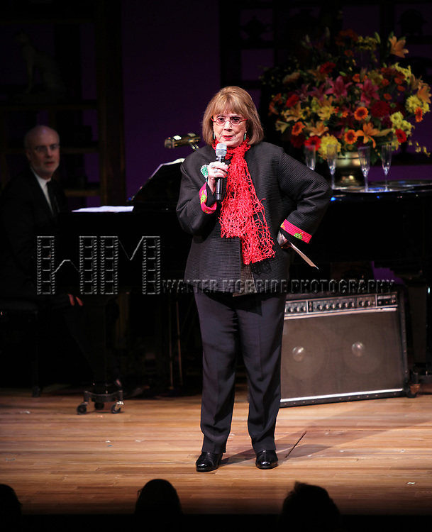 "Larry Yurman & Phyllis Newman performing at the ""Nothing Like A Dame: A Party For Comden And Green"" at  the Laura Pels Theatre in New York City."