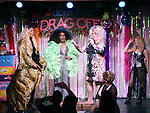 LaToya Fruitpunch, Grenadine Ross, Sweetie, , Sister Mary Helen and Brianna Andrews during a performance of 'Ultimate Drag Off', the zaniest, live theatrical interactive game-show where audience members vote and crown the next drag superstar, at Triad Theatre on October 2, 2015 in New York City.
