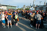 Participants run during the Bloomberg Square Mile Relay race across Pier 27 at the James R. Herman Cruise Terminal on 3 August 2017 in San Francisco, United States. Photo by Alison Brown / Power Sport Images