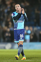 Michael Harriman of Wycombe Wanderers  applauds the home fans after the Sky Bet League 2 match between Wycombe Wanderers and Leyton Orient at Adams Park, High Wycombe, England on 17 December 2016. Photo by David Horn / PRiME Media Images.