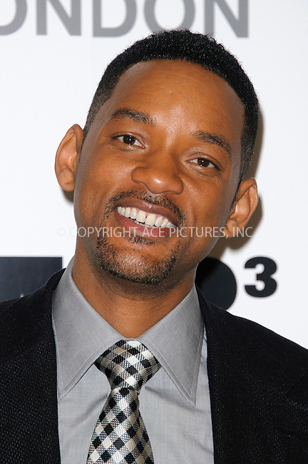 WWW.ACEPIXS.COM . . . . .  ..... . . . . US SALES ONLY . . . . .....May 16 2012, London....Will Smith at the photocall for 'Men in Black III' at the Dorchester Hotel on May 16 2012 in London....Please byline: FAMOUS-ACE PICTURES... . . . .  ....Ace Pictures, Inc:  ..Tel: (212) 243-8787..e-mail: info@acepixs.com..web: http://www.acepixs.com