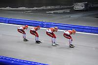 SCHAATSEN: HEERENVEEN: 25-06-2014, IJsstadion Thialf, Zomerijs training, Team Corendon, ©foto Martin de Jong