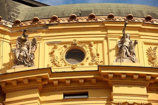 Szeged National Theatre exterior. Neo Baroque (1885). Hungary