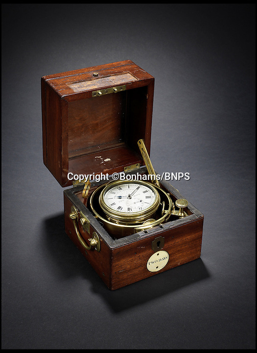 BNPS.co.uk (01202 558833)<br /> Pic: Bonhams/BNPS<br /> <br /> ***Must use full byline***<br /> <br /> A marine chronometer that helped Charles Darwin reach the Galapagos Islands where he discovered the theory of evolution has been unearthed.<br /> <br /> The portable time-telling device was on board the British Admiralty survey ship HMS Beagle and was used to help the crew to navigate their way to the Pacific Ocean.<br /> <br /> Scientist Darwin went on the second of three exploration trips made by the Beagle,<br /> from 1831 to 1836 to the Galapagos Islands.<br /> <br /> During his time on there he famously observed giant tortoises and mockingbirds and identified that animals evolved to adapt and survive in their surroundings.<br /> <br /> He went on to write about his theory of evolution in his seminal work 'On the Origin of Species'.<br /> <br /> The previously unrecorded marine chronometer was one of 22 on board HMS Beagle but only two others are known to have survived and they are owned by the British Museum.<br /> <br /> This one was sold by the British Admiralty in 1911 and it disappeared from records until now.<br /> <br /> It is now being sold by its private owner at auction at Bonhams, with a pre-sale estimate of 50,000 pounds.
