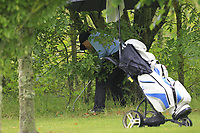 Therese Maher (Mount Juliet) in the rough on the 1st during the Final round of the Irish Mixed Foursomes Leinster Final at Millicent Golf Club, Clane, Co. Kildare. 06/08/2017<br /> Picture: Golffile | Thos Caffrey<br /> <br /> <br /> All photo usage must carry mandatory copyright credit      (&copy; Golffile | Thos Caffrey)