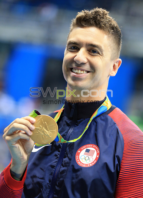 RIO DE JANEIRO, BRAZIL - AUGUST 12:  Anthony Ervin of the USA wins Gold in the Men's 50m Freestyle Final on Day 7 of the Rio 2016 Olympic Games at the Olympic Aquatics Stadium on August 12, 2016 in Rio de Janerio, Brazil.  (Photo by Vaughn Ridley/SWpix.com)