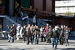 Chinese tourists gather at Sensoji temple in Asakusa district on January 22, 2016, Tokyo, Japan. The Japan National Tourism Organization reported on Tuesday 19th a record increase in foreign visitors in 2015. Approximately 19.73 million people visited Japan from abroad, up 47.3 percent. According to the report there were more Chinese visitors than from any other nation with 4.99 million coming in 2015. South Korea (4 million) and Taiwan (3.67 million) were next on the list, and over 1 million Americans also visited Japan in 2015. The number of visitors is the highest in 45 years and already close to Japan's goal of attracting 20 million foreign visitors in a year by 2020. (Photo by Rodrigo Reyes Marin/AFLO)