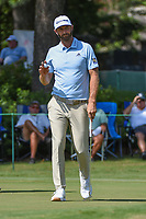Dustin Johnson (USA) sinks his birdie putt on 10 during round 2 of the WGC FedEx St. Jude Invitational, TPC Southwind, Memphis, Tennessee, USA. 7/26/2019.<br /> Picture Ken Murray / Golffile.ie<br /> <br /> All photo usage must carry mandatory copyright credit (© Golffile | Ken Murray)