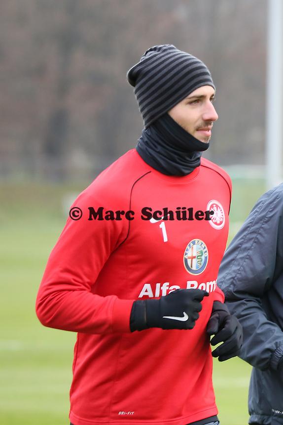 Kevin Trapp (Eintracht) wieder im Mannschaftstraining - Eintracht Frankfurt Training, Commerzbank Arena