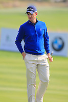 Justin Rose (ENG) on the 8th green during Sunday's Final Round of the 2014 BMW Masters held at Lake Malaren, Shanghai, China. 2nd November 2014.<br /> Picture: Eoin Clarke www.golffile.ie