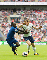 Tottenham's Jan Vertonghen and Chelsea's Victor Moses during the Premier League match between Tottenham Hotspur and Chelsea at Wembley Stadium, London, England on 20 August 2017. Photo by Andrew Aleksiejczuk / PRiME Media Images.