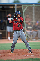 AZL D-backs Douglas Lanza (25) at bat during an Arizona League game against the AZL Mariners on August 7, 2019 at Peoria Sports Complex in Peoria, Arizona. AZL D-backs defeated the AZL Mariners 4-1. Walston pitched one inning and allowed one earned run while striking out three batters. (Zachary Lucy/Four Seam Images)