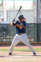 Juan Aponte, Cleveland Indians 2010 minor league spring training..Photo by:  Bill Mitchell/Four Seam Images.