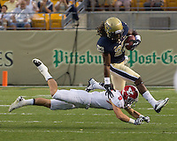 Lafayette PItts returns the opening kickoff for Pitt. The Youngstown St. Penguins defeated the Pittsburgh Panthers 31-17 on Saturday, September 1, 2012 at Heinz Field in Pittsburgh, PA.