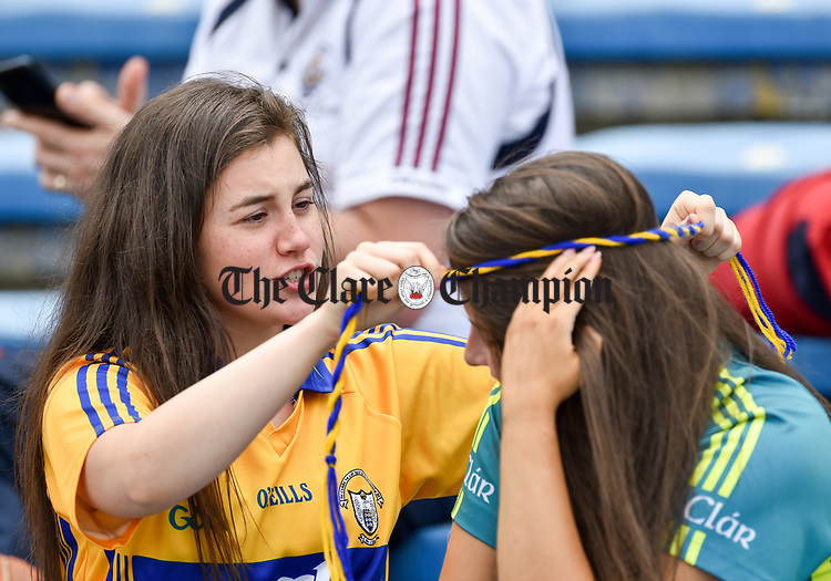 Fans settle in before their All-Ireland semi-final replay against Galway at Semple Stadium,Thurles. Photograph by John Kelly.